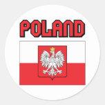 Polonia Pegatina Redonda
