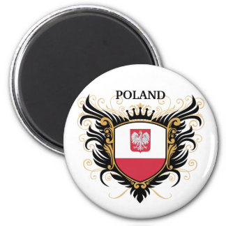 Polonia [personalice] imán de frigorífico