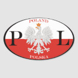 Polonia Polska PL Calcomanía De Óval