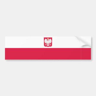 Polonia/poste/bandera polaca pegatina de parachoque