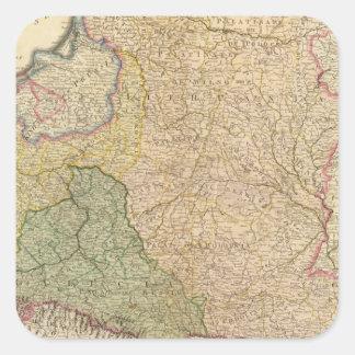 Polonia, Prusia 2 Pegatina Cuadrada
