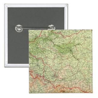 Polonia y Checoslovaquia Pin Cuadrado