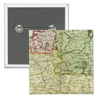 Polonia y Lituania Pin Cuadrado