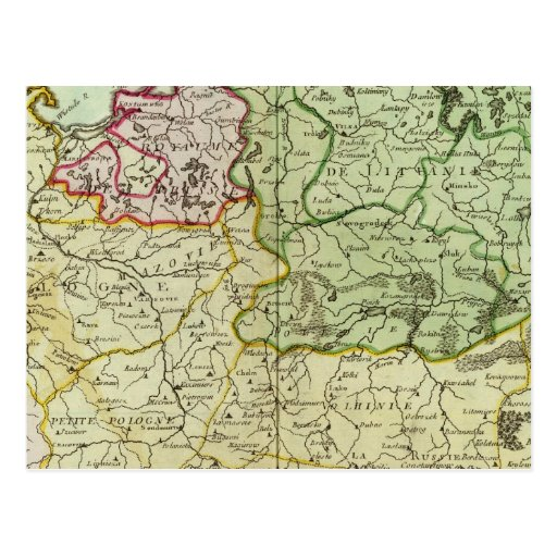 Polonia y Lituania Tarjeta Postal