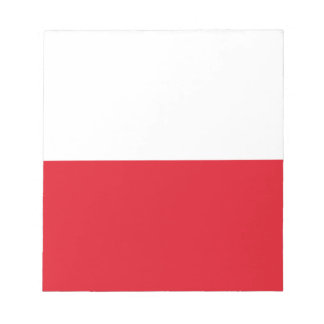 Polonian flag notepad