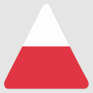 Polonian flag triangle sticker