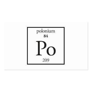 Polonium Business Card Templates
