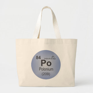 Polonium Individual Element of the Periodic Table Tote Bag