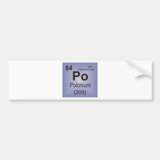 Polonium Individual Element of the Periodic Table Bumper Stickers