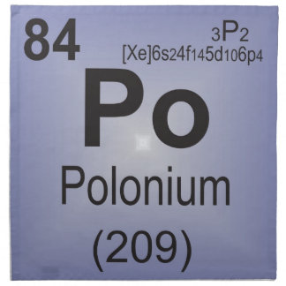 Polonium Individual Element of the Periodic Table Napkin