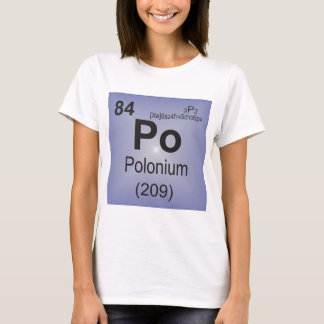 Polonium Individual Element of the Periodic Table T-Shirt