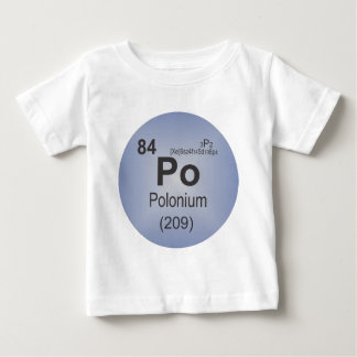 Polonium Individual Element of the Periodic Table T Shirts