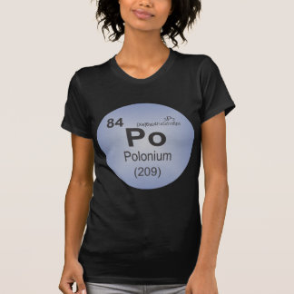 Polonium Individual Element of the Periodic Table Shirt