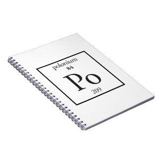 Polonium Spiral Notebooks