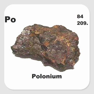 Polonium+stickers on Lithium Periodic Table
