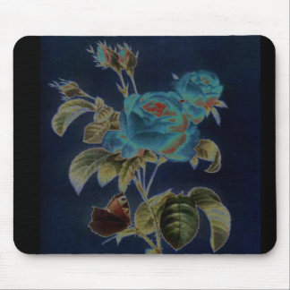 Polorized cabbage rose mouse pad