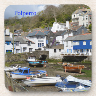 Polperro Cornwall England Low Tide Coaster