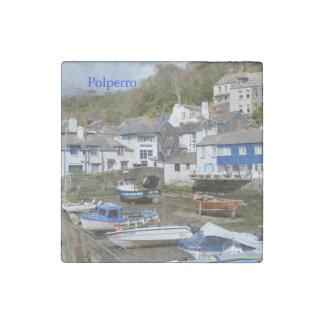 Polperro Cornwall England Low Tide Stone Magnet