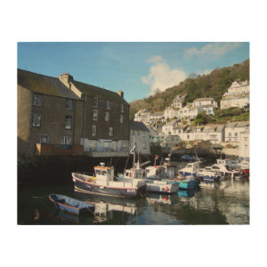 Polperro Cornwall England Wood Canvases