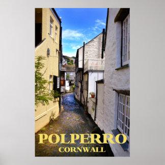 polperro cornwall poster