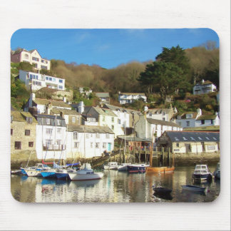 Polperro Harbour Cornwall England Mouse Pad