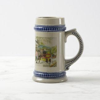 'Polperro Horse Bus' Stein Coffee Mug