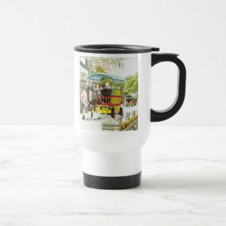 'Polperro Horse Bus' Travel Mug