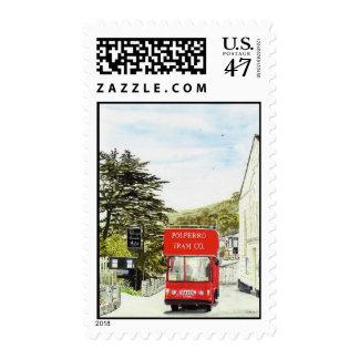 'Polperro Tram' Postage
