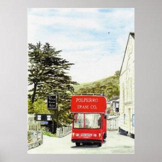 'Polperro Tram' Poster