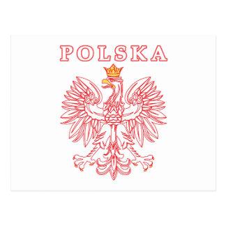 Polska con el polaco Eagle del rojo Postales