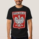 polska-dark, Polska Shield / Polish Flag T Shirts