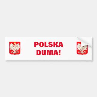 POLSKA DUMA! CAR BUMPER STICKER