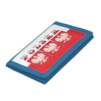 Polska Eagle Flag Shields Trifold Wallet