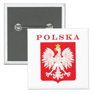 Polska Eagle Red Shield Pinback Buttons