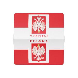 Polska Eagle Red Shield Checkbook Cover