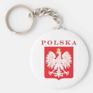 Polska Eagle Red Shield Keychain