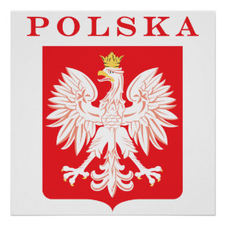 Polska Eagle Red Shield Poster