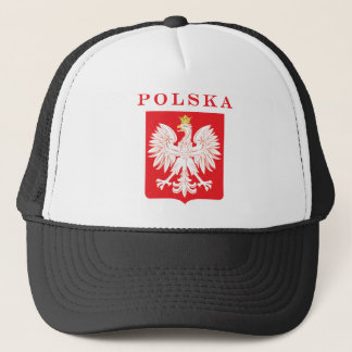 Polska Eagle Red Shield Trucker Hat