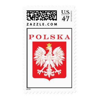 Polska Eagle Shield Stamps