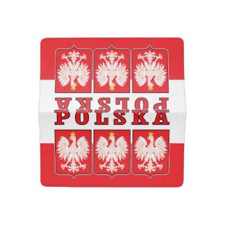 Polska Eagle Shields Checkbook Cover