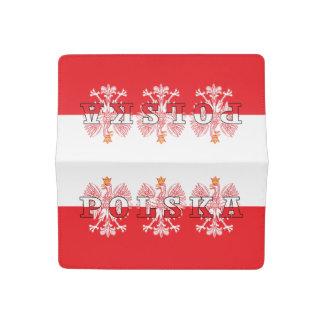 Polska Flag Red Eagles Checkbook Cover