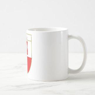 Polska Flag Shield Coffee Mugs