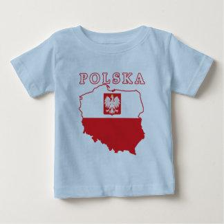 Polska Map With Eagle Baby T-Shirt