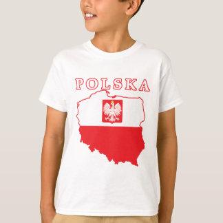 Polska Map With Eagle T-Shirt