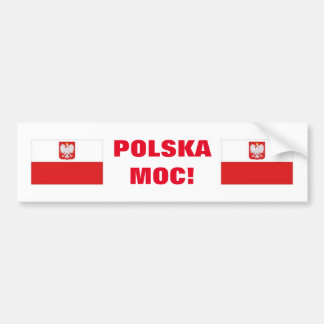 POLSKA MOC! CAR BUMPER STICKER