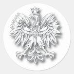 POLSKA-Orzel Round Stickers