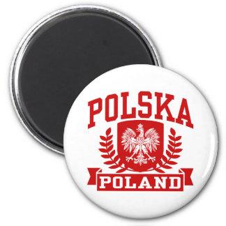 Polska Poland 2 Inch Round Magnet