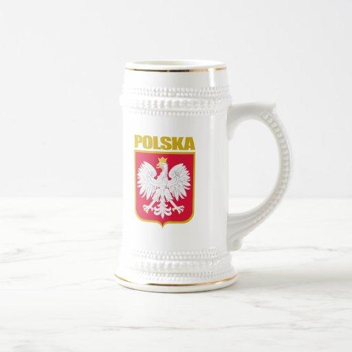 Polska (Poland) COA 18 Oz Beer Stein