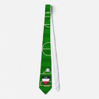 Polska Poland Soccer Field Football Tie