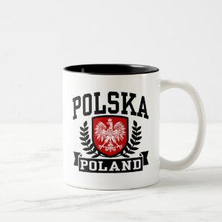 Polska Poland Two-Tone Coffee Mug